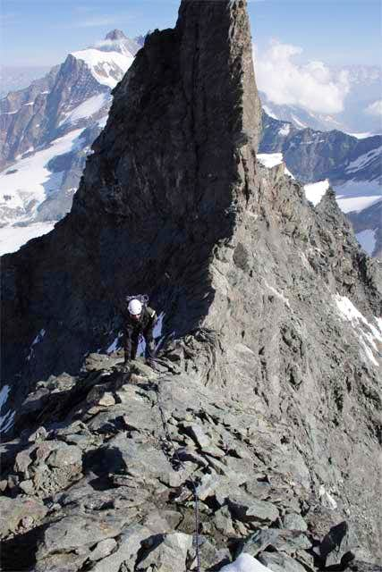 The North Ridge. The rock...