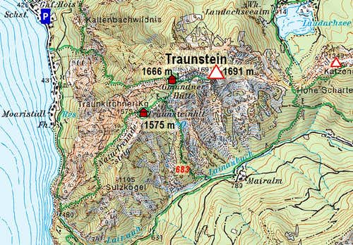 Map of Traunstein
