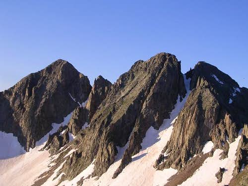 Babcock Peak\'s three main...