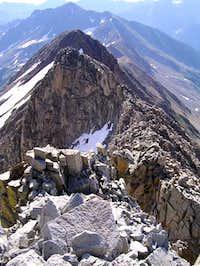 The rugged east ridge of...