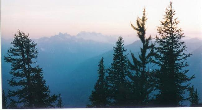 Sunrise on Dome Peak. It was...