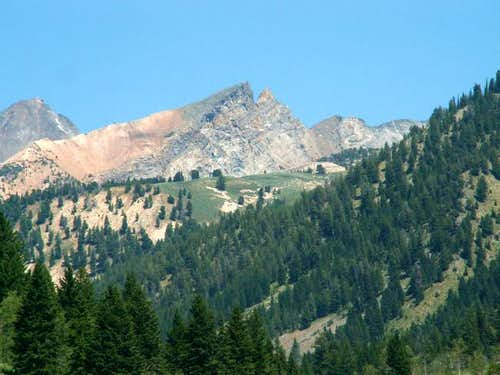 Handwerk Peak from near the...