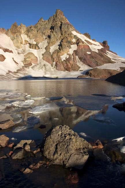 Moraine lake on east side of...