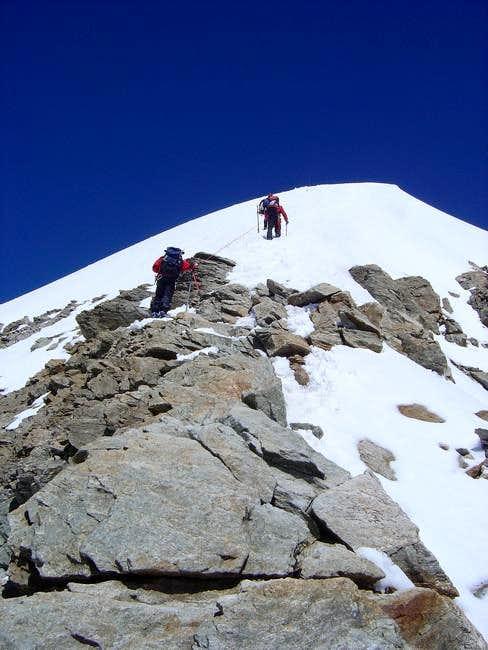 Mönch, SE ridge, begin of the...