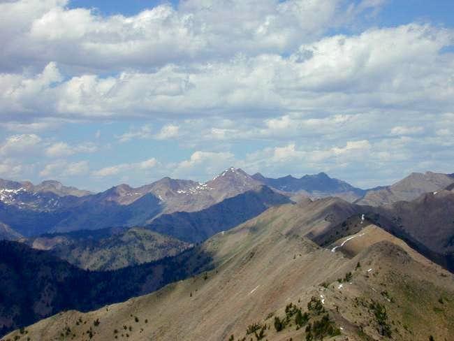 Glassford Peak (center) in...