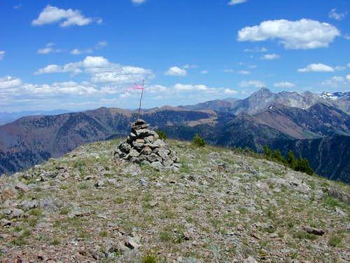 Rock Roll Peak's summit...