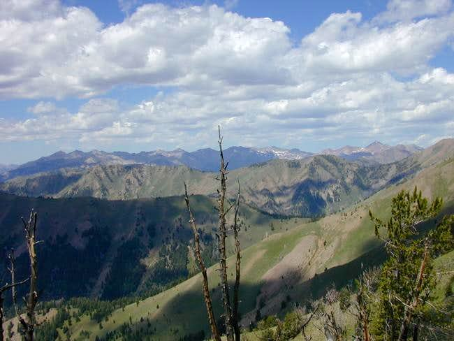 The Boulder Mtns from below...