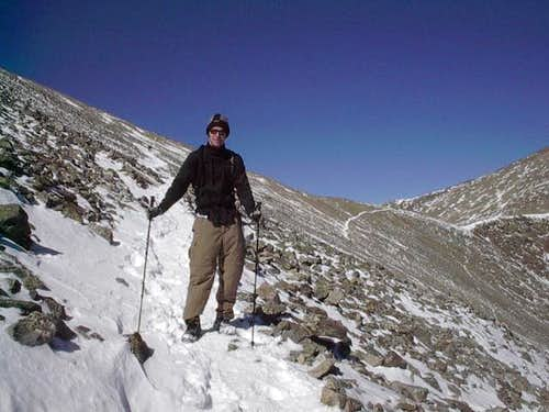Photo of me descending Grays...