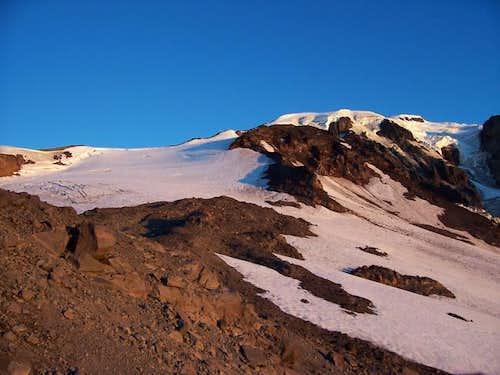 Mazama Glacier on left and...