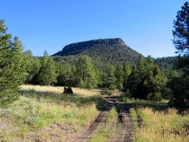 Cerro Pedernal above the...