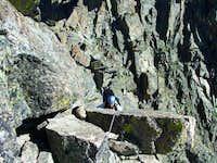 Scott Patterson climbing on...