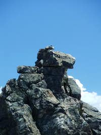 Zoom photo of the summit of...