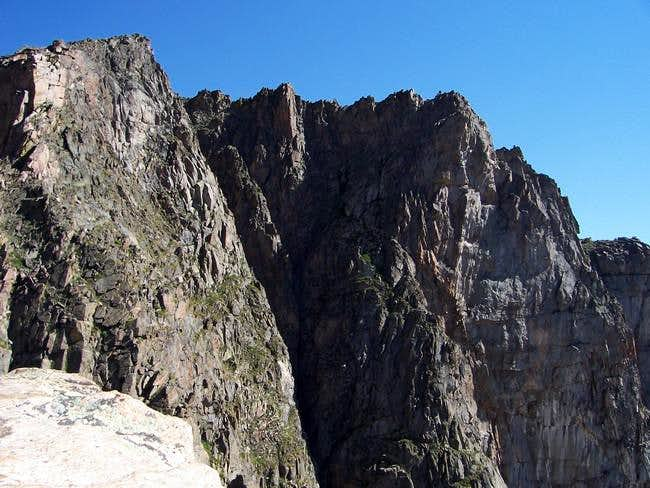 The huge south face of Peak...