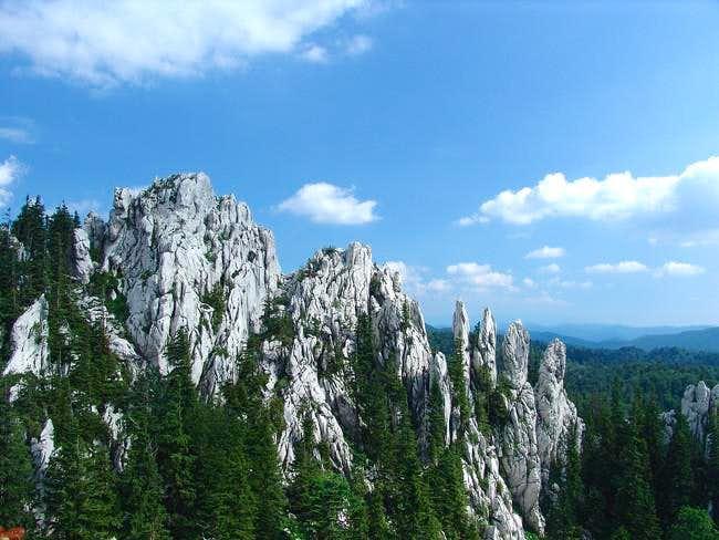 The summit of Bijele stijene (1335 m)