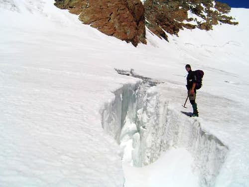 Crevasse on route back from...