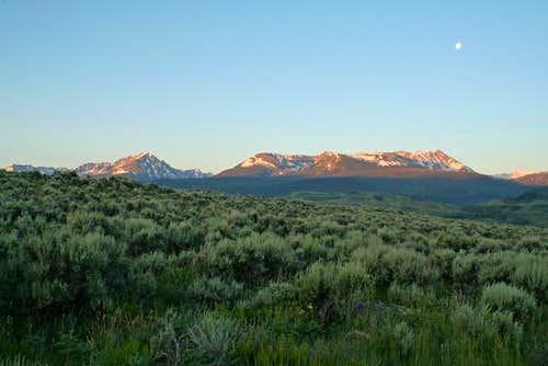 Eagles Nest and Dora Mountain...