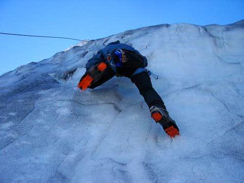 Ice climbing...Coleman Glacier