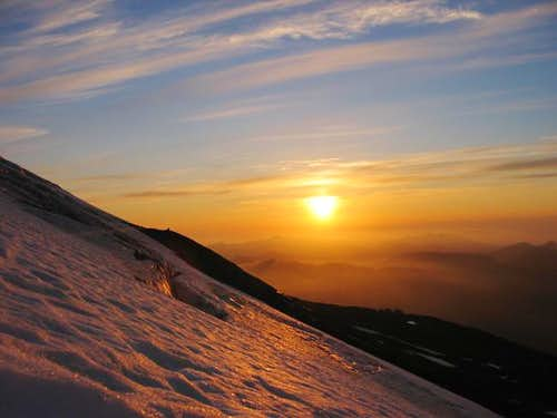Sunset, over Heliotrope Ridge...