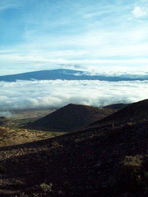 The view of Mauna Loa across...
