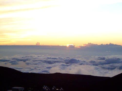 Sunset on the big island in...