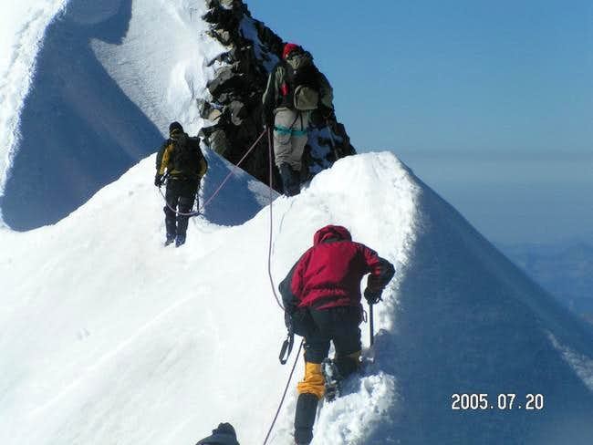 people fighting on the ridge
