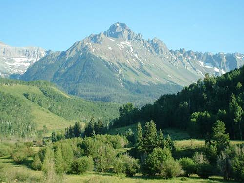 mount sneffels from the...