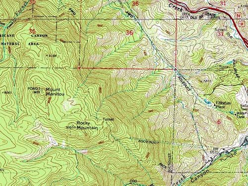 This is a topographic map of...