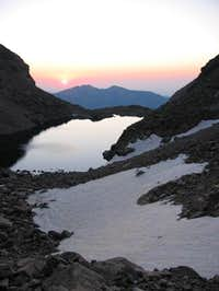 Sunrise over Chasm Lake,...