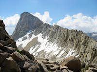 The ridge to Sawtooth peak...