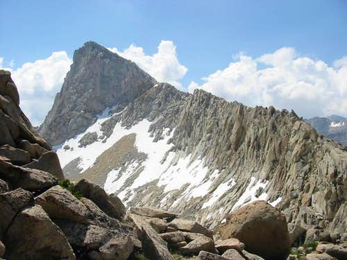 The ridge to Sawtooth peak...