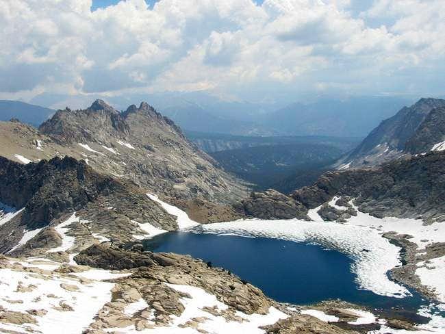 Columbine Lake from the ridge...