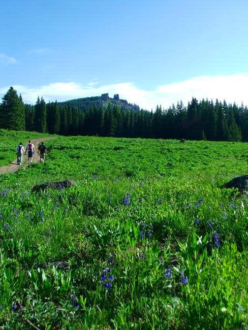 Rabbit Ears Peak on the hike...