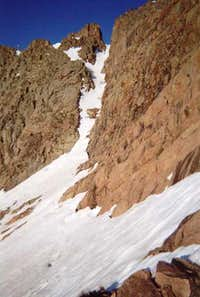 The south ridge notch on...
