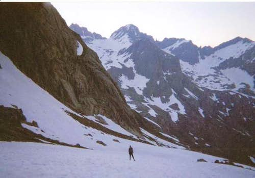 Climbing the eastern slopes...