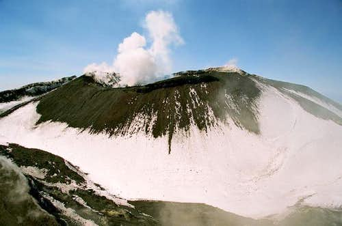 The inner crater of...