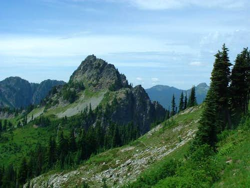 Lane Peak as seen from the...