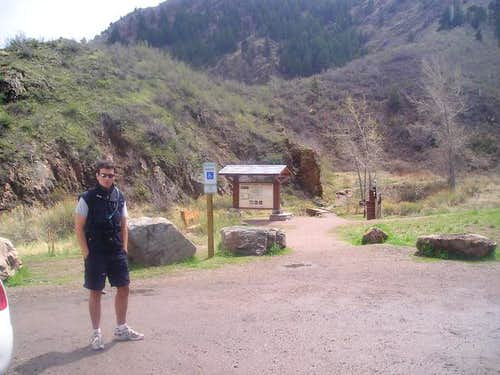 Cedar Gulch Trailhead April...