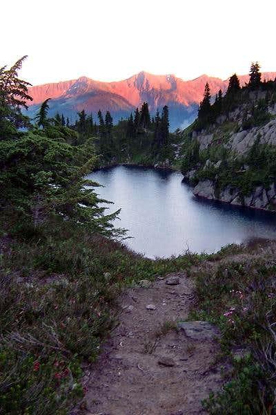 Rock Lake at sunset.