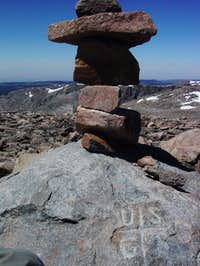 A photo of the summit of...