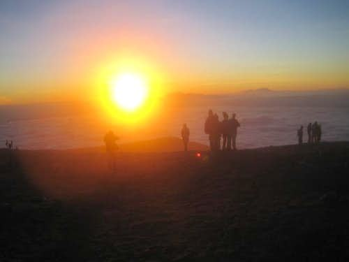 Sunrise from Summit July 2005