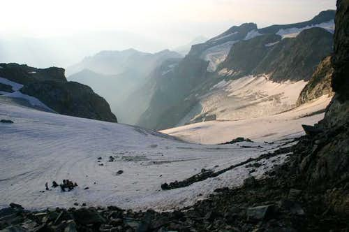 View from col du Monetier on...