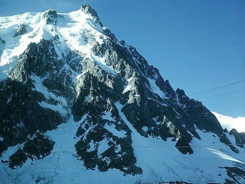 Aiguille du Midi with the...