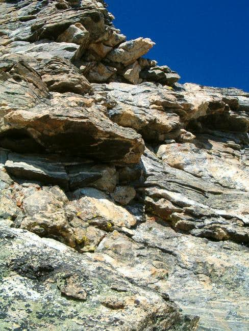 The crux slabs are just above...