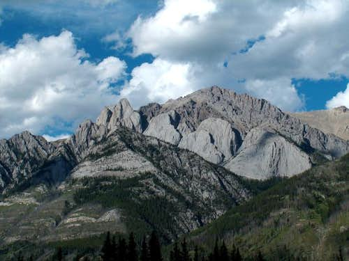 The Finger (left), Banff...