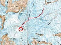 GPS Track of route taken from...