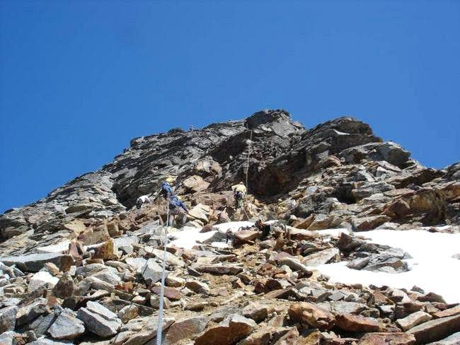 Ascending the South Face...
