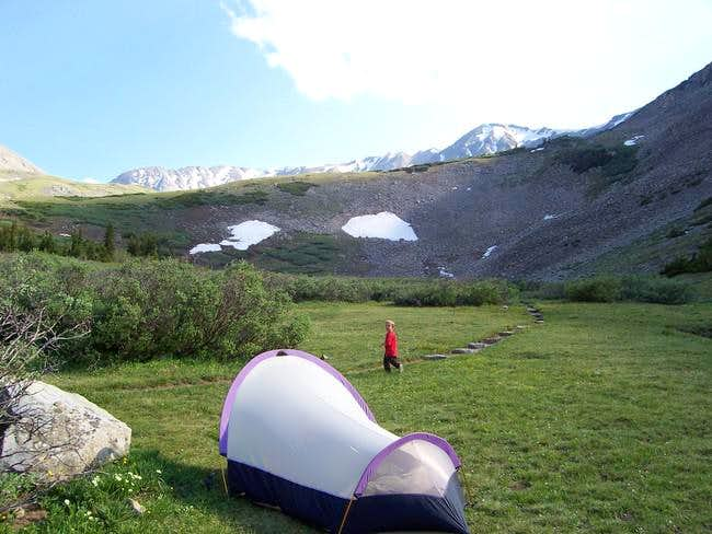 Our campsite at 11,700 feet...