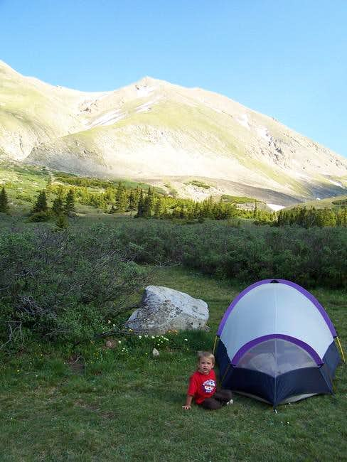 This is our campsite just...
