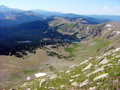 The Waterdog Lakes and Bald Mountain