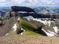 Coxcomb Peak and beyond from...